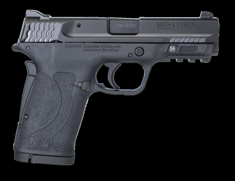 Smith & Wesson M&P380 Shield EZ 380ACP Pistol Black No Thumb Safety