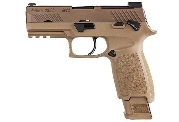 Sig Sauer P320 M18, 9mm Pistol, Coyote (320CA-9-M18-MS)