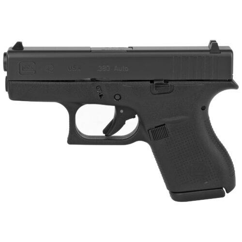 Glock G42 380ACP Pistol, Black (UI4250202)-Blue Label Program