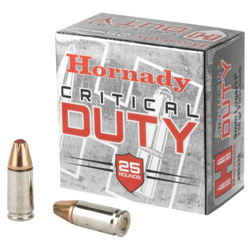 Hornady Critical Duty 9mm+P 135 Grain FlexLock Ammunition (90226)