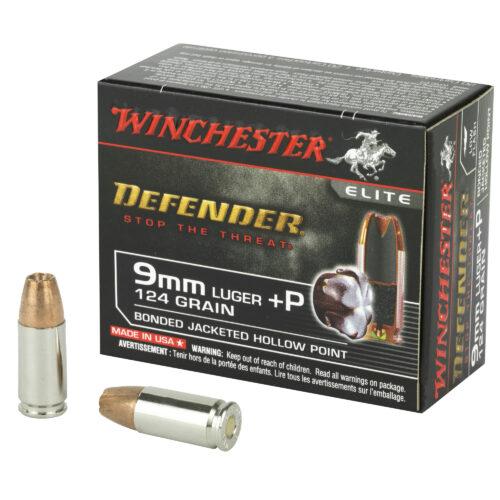 Winchester 9mm +P BJHP Ammunition 124 Grain (S9MMPDB)