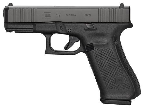 Glock G45 Gen5 FS 9mm Pistol, Black (PA455S202)-Blue Label Program