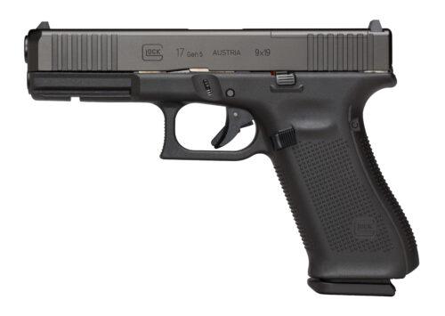 Glock G17 Gen5 MOS FS 9mm Pistol, Black (PA175S202MOS)-Blue Label Program