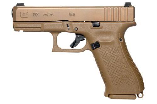 Glock G19X 9mm Pistol, Coyote Tan (PX1950702)-Blue Label Program