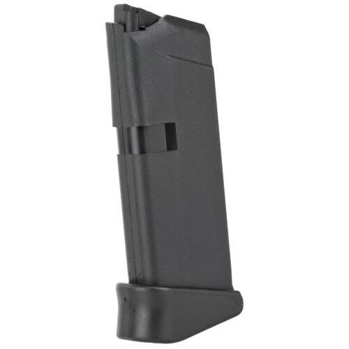 Glock OEM Magazine, .380ACP 6Rd, Fits GLOCK 42, Grip Extension, Black Finish