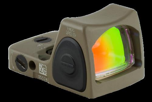 Trijicon RMR Sight Adjustable LED Optic, Type 2, Adjustable, 3.25 MOA, FDE