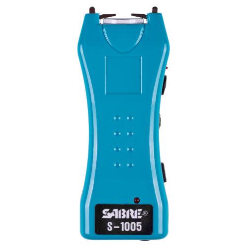 SABRE Stun Gun +Flashlight w/Belt Holster, Teal (S-1005-TQ)