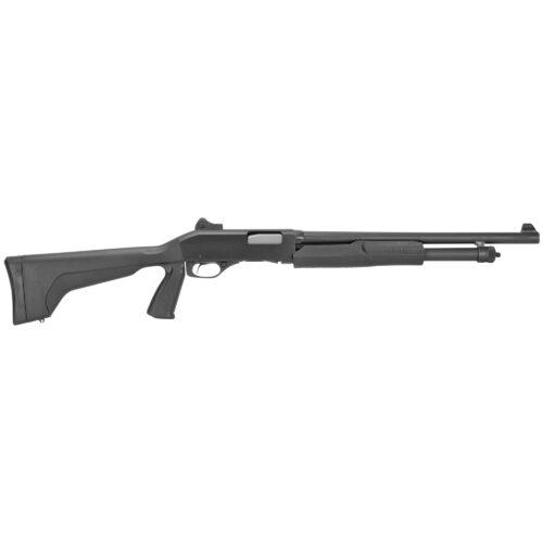 Savage Arms Stevens 320 Security 12 Gauge Pump Action Shotgun, Pistol Grip, Ghost Ring Sight (19495)