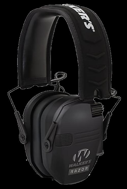 Walker's Razor, Slim Folding Electronic Earmuff, 23 dB, Black