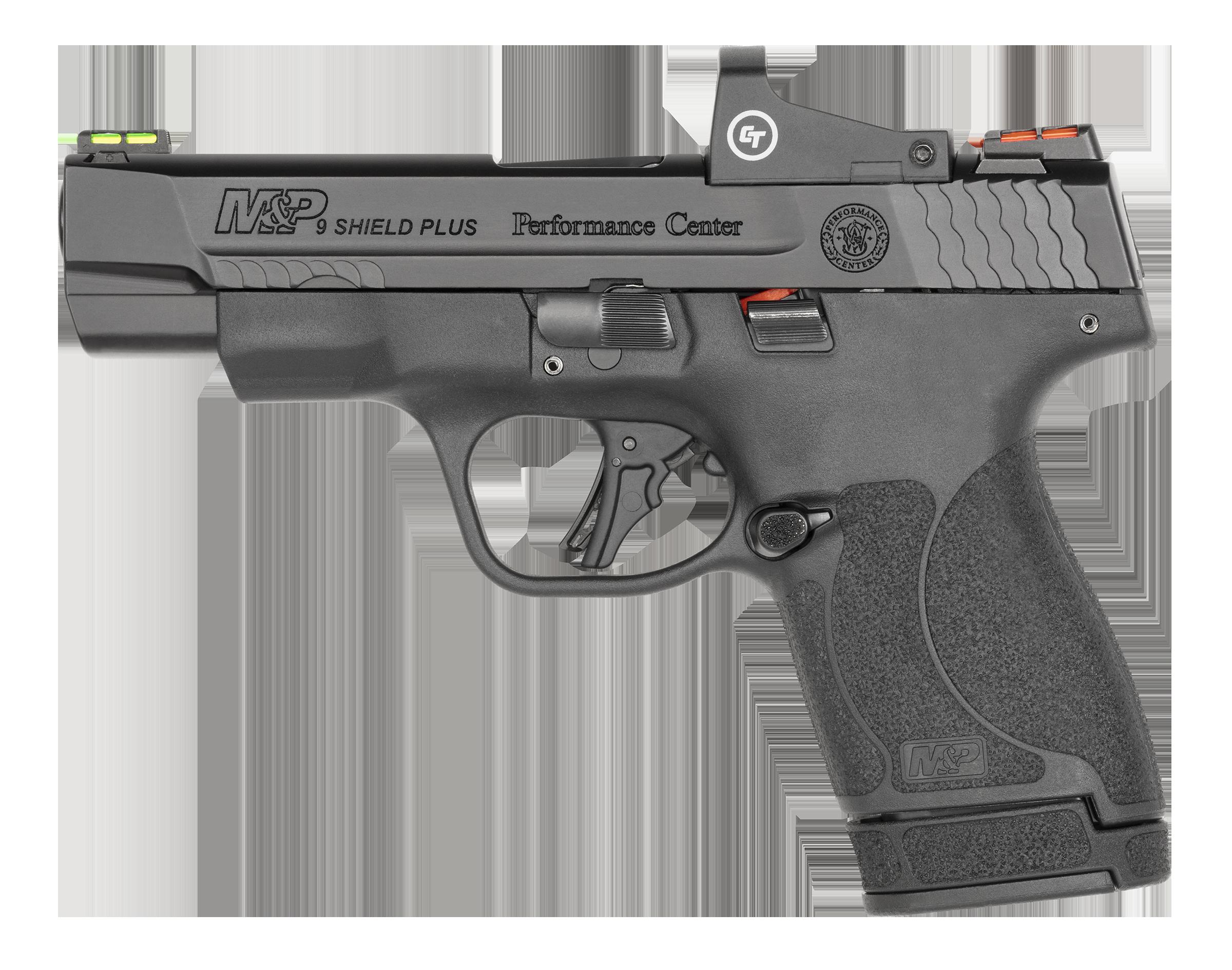 Smith & Wesson M& P9 Shield Plus Performance Center, Crimson Trace Optic, Black (13251)