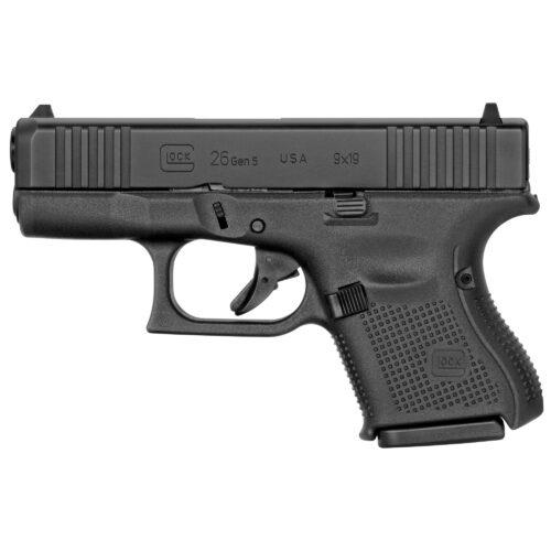 Glock G26 Gen5 9mm Pistol, Black (UA265S202)-Blue Label Program
