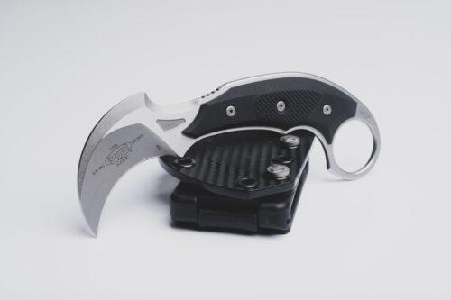 Microtech Bastinelli Creations, Iconic, Stonewashed, Fixed Blade Knife