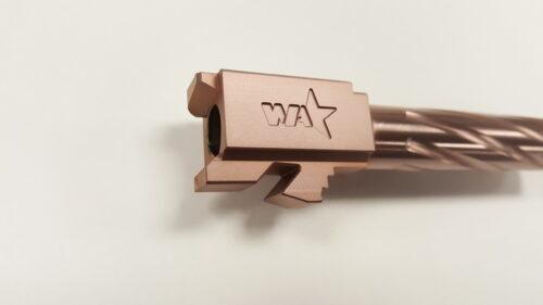 Wheaton Arms Match Grade Barrel, Standard Length, Copper Finish, Fits G19 Gen 1-5, Copper Finish (G19-CPR-STD-GEN1-5)