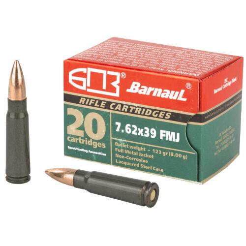 Barnaul 7.62x39mm 123gr FMJ Ammunition (BRN762X39FMJ123)
