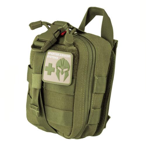 Spartan Armor Systems Advanced Individual First Aid Kit OD Green (SAS-AFAK-OD-KIT)
