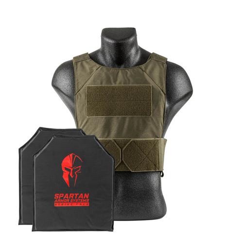 Spartan Armor Systems Flex Fused Core IIIA Soft Body Armor and Spartan DL Concealment Plate Carrier(SAS-PKG-PLYIIIA-SDLPC-OD-KIT)
