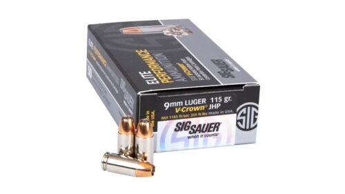 Sig Sauer V-Crown 9mm 115gr JHP Ammunition (E9MMA1-50)