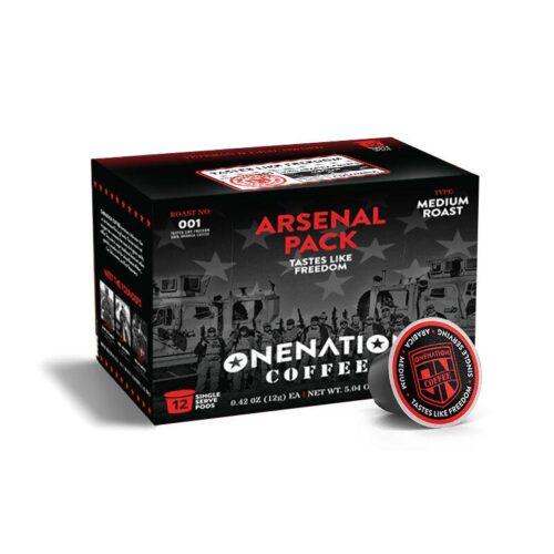 OneNation Coffee, Arsenal 12 Pack, Tastes Like Freedom - Med. Roast (ON-TASTE LIKE FREEDOM-K12)