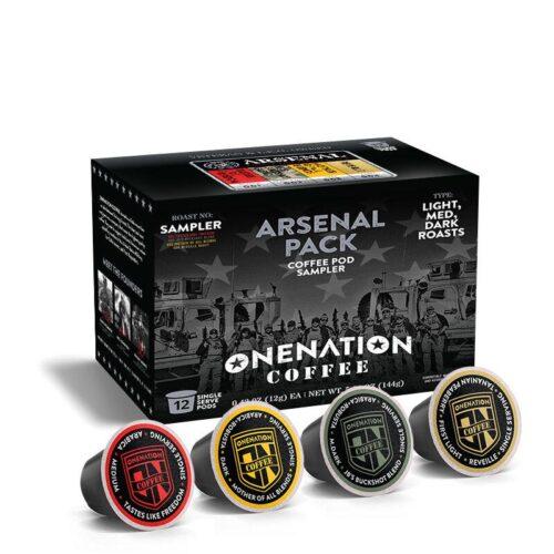OneNation Coffee, Arsenal 12 Pack - Coffee Pod Sampler Pack (ON-ARSENAL PACK-K12)