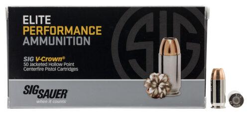 Sig Sauer V-Crown (JHP) Ammunition, 45 ACP, 230gr, 50 Rd. Box (E45AP250)
