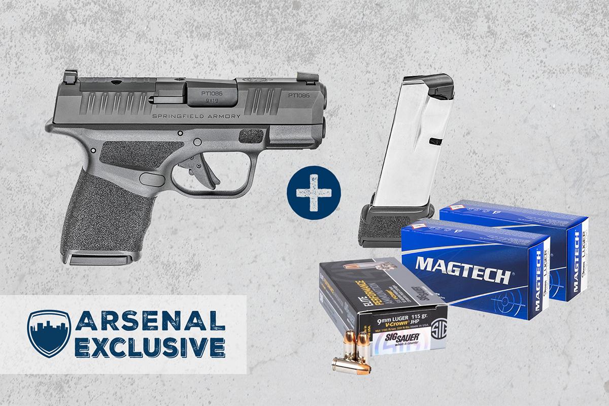 Springfield Hellcat OSP 9mm Pistol, Extra 15Rd Magazine + Ammo Package (AE0012)