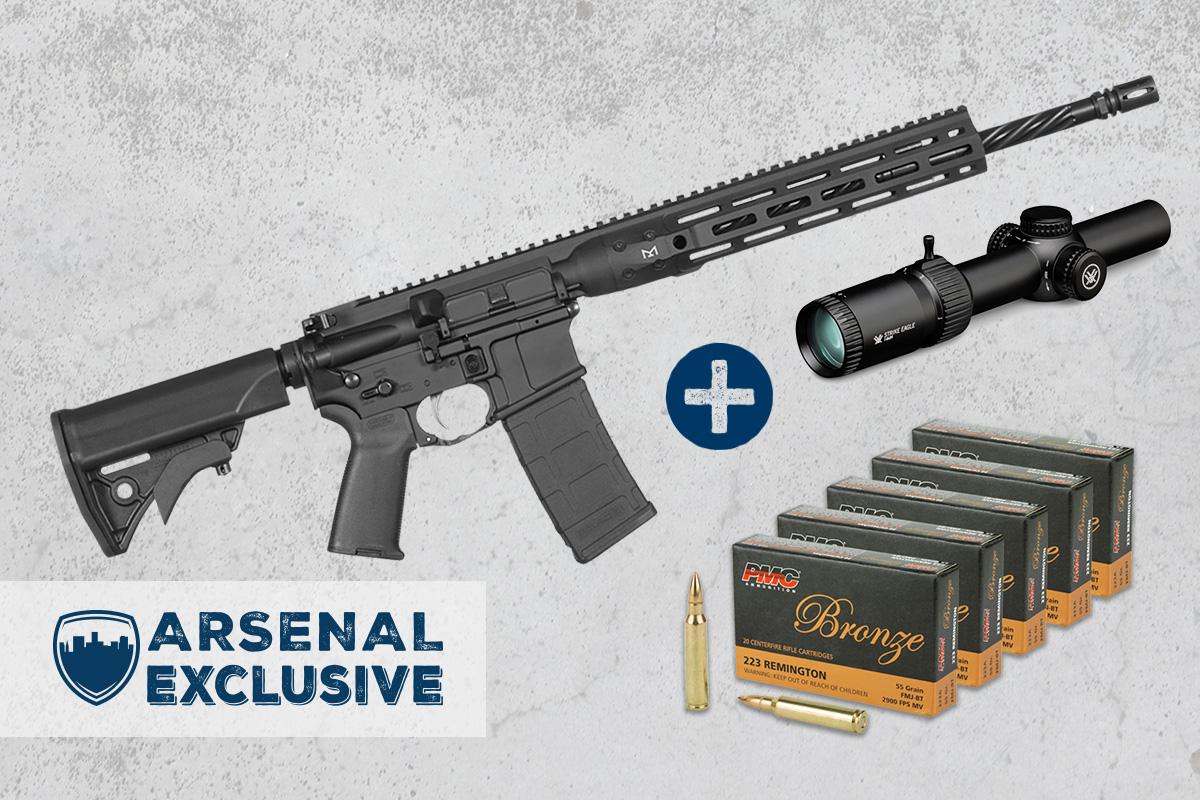 LWRC Individual Carbine DI 5.56mm Rifle with Vortex Strike Eagle 1-6×24 Riflescope + Ammo Package (AE0014)