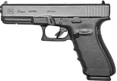 Glock G21 45 ACP Pistol, Black (UG2150202)-Blue Label Program