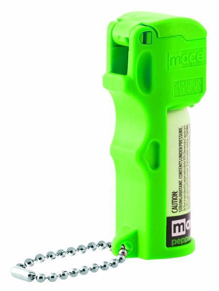 Mace Brand Pepper Spray, Pocket Model, Pepper Spray + UV Dye, Neon Green (80744)